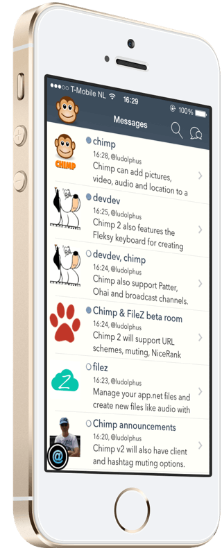ChimPnut - iOS pnut.io client supporting rich media posts, messages, patter, broadcast and ohai
